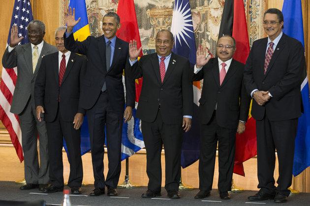 Barack Obama, Anote Tong, Christopher Loeak, Peter O'Neill, Kenny Anthony, Freundel Stuart